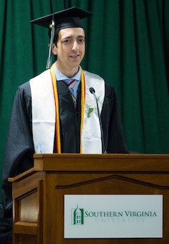 Valedictorian Nathanael Rodriguez
